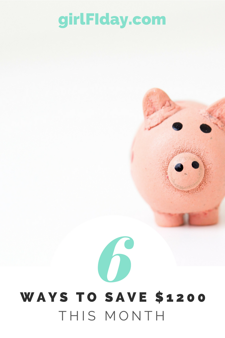 6 ways to save 1200 this month PINTEREST