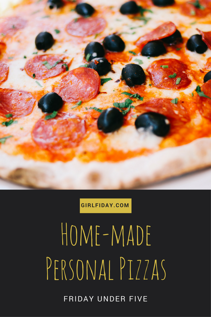 Friday Under Five Personal Pizzas PINTEREST