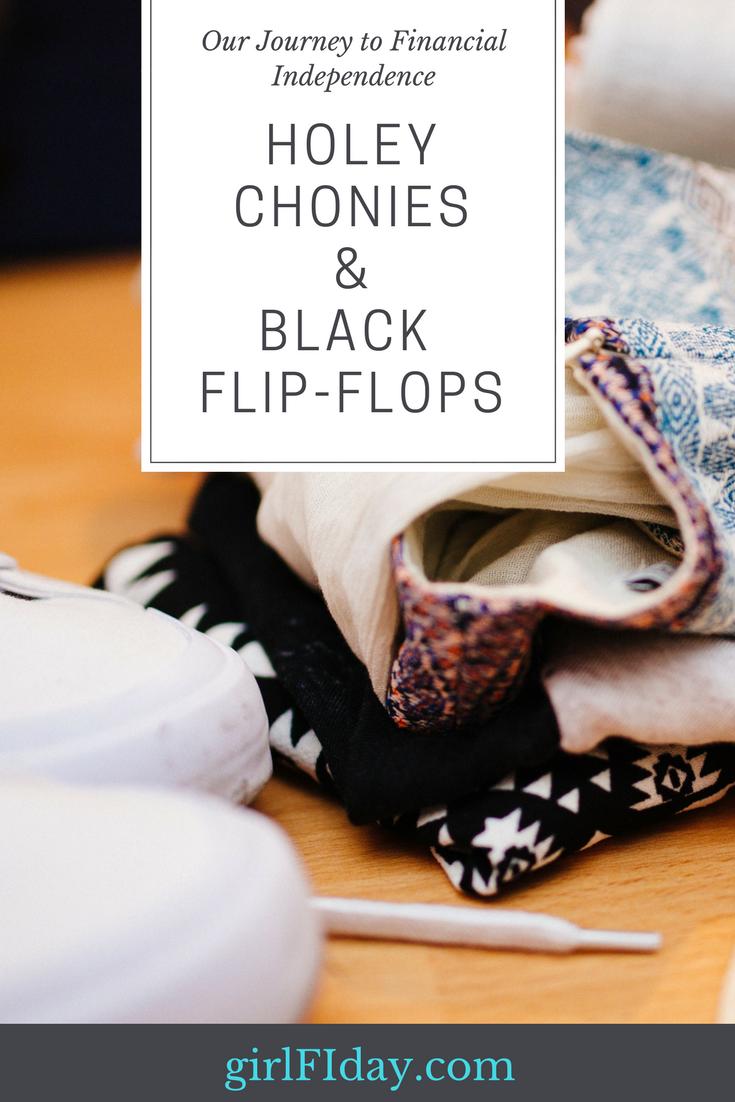 Holey Chonies&Black Flip-Flops.Pinterest