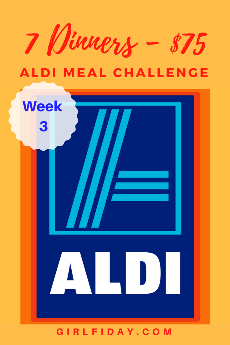 Aldi Meal Challenge – Week 3