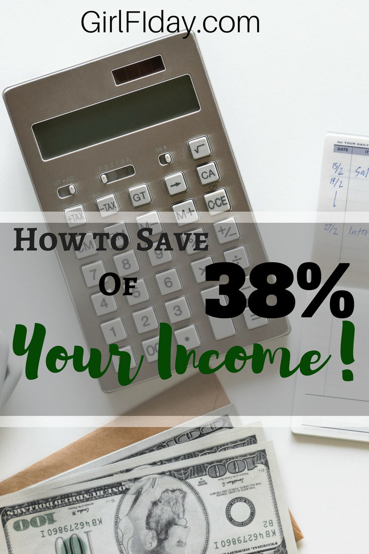 How to Save 38% of Your Income