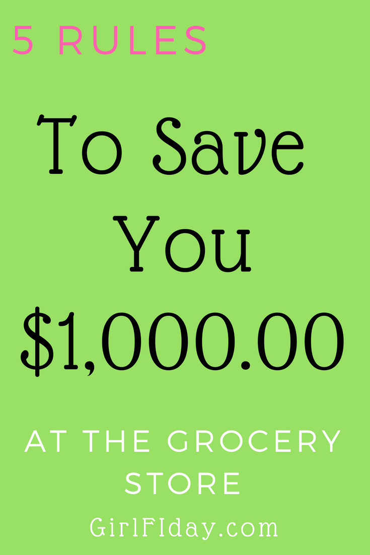5 Grocery Shopping Rules to Save You $1,000.00