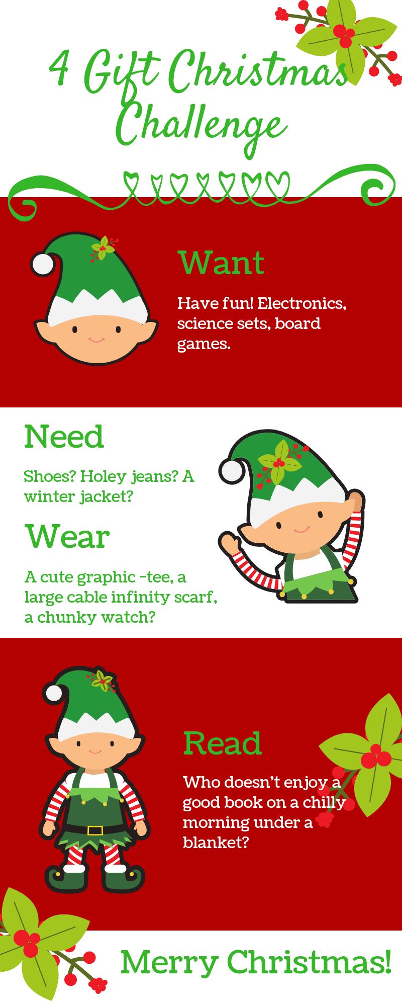 4 Gift Christmas Challenge